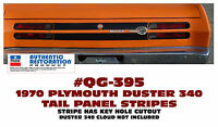 QG-395 1970 PLYMOUTH DUSTER - TAIL PANEL STRIPE - APPLY BETWEEN TAIL LIGHTS