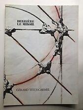 Derriere le miroir 243, Derriere le miroir, arte, Gérard Titus-Carmel,