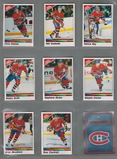 1990-91 Panini Stickers Montreal Canadiens Complete Team Set (16) Roy Etc.