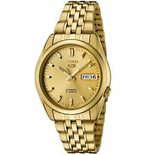 Seiko 5 SNK366 Automatic Day-Date All Gold Stainless Steel Men's Watch SNK366K1