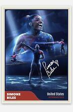 Simone Biles Handmade United States USA Gymnastics Tokyo Olympic Art Card