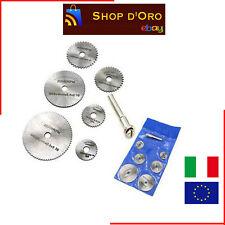 6pz HSS sega circolare disco Kit Si Adatta a Dremel trapani Rotary Tool Cutting