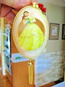 Vintage Disney Goose Egg Decorated & Jewels Princess Christmas Ornament