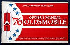 Owner's Manual Betriebsanleitung 1976 Oldsmobile Cutlass + Vista Cruiser  (USA)
