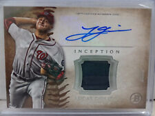 2015 Topps Bowman Inception #IAR-LG Lucas Giolito Nationals Relic Auto