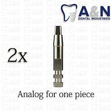 2 Analog for one-piece Implant Prosthetics Dental implant Abutment Lab Free Ship