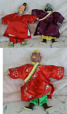 7 VINTAGE COMPOSITION HAND PUPPETS MONKEY EVIL CHARACTER OTHERS WITH BOXES