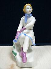 figure Skater Girl porcelain figurine Polonnoe ZHK USSR ORIGINAL last century