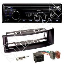 Mueta a4 USB SD CD radio + renault megane scenic diafragma negro + adaptador ISO set