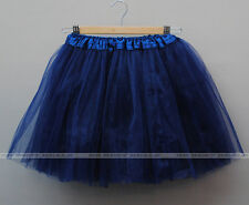 Adult Teen Soft 4 Layered Tulle Tutus Skirts Petticoat Above Knee Length Women