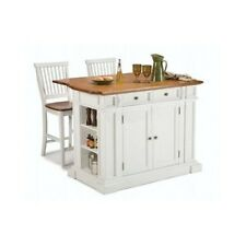 Kitchen Island Bar  Oak Table Counter Dining Storage Cabinet Top Stool Breakfast