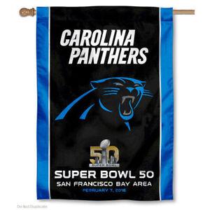 Carolina Panthers 2016 Super Bowl 50 Banner Flag and Banner