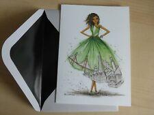 Papyrus Bella Pilar Dress San Francisco-Large Blank Greeting Note Card-greeting