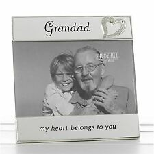 "Silver Message Band Photograph Frame Grandad 15.75cm High Takes 6 x 4"" 15 x 10cm"