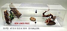 Terrestrial 53 Gallon Fd Acrylic Cage With Doors For Snakes,Terrarium, Reptile
