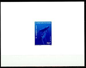 Polynésie Epreuve de Luxe 1994 Yvert 452 Mammifères Marins , Baleines