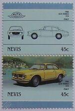 1966 ALFA ROMEO GTA Car Stamps (Leaders of the World / Auto 100)