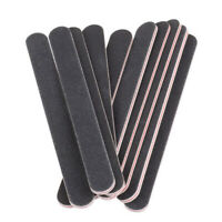 New 10Pcs Nail Files Sanding 100/180 Round Grit for Nail Art Tips Manicure Tool