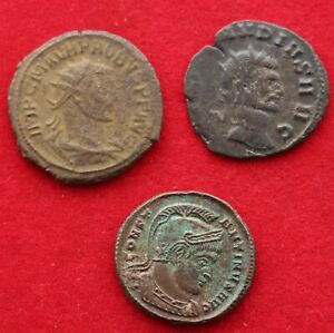 3 UNIDENTIFIED ROMAN COINS