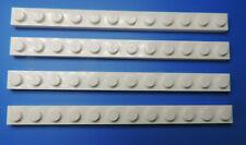 Lego Nr 4514842 Piastra 1x12 Bianco / 4 Pezzi
