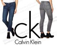 Women's CK Calvin Klein Stretch SLIM BOYFRIEND Jeans Grey Inkwell NEW