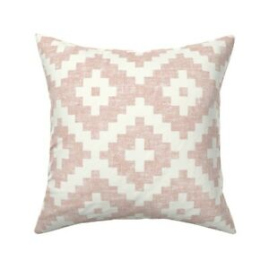Pink Aztec Inspired Throw Pillow Cover w Optional Insert by Roostery
