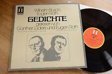 Wilhelm Busch & Eugen Roth Gedichte Leder & Roth LP Heliodor 2571 029