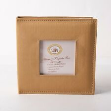 Nantucket Home Album & Keepsake Box Holds 100 4x6 Photo Memo Pages Gold New