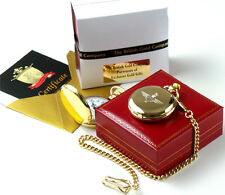 THE PARAS Parachute Regiment Gold Pocket Watch Paratrooper British Army Gift Box