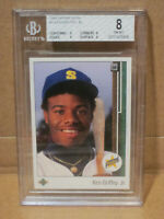 1989 Upper Deck #1 Ken Griffey Jr. BGS 8 NM-MT Near Mint Mint 9 Subs Rookie HOF