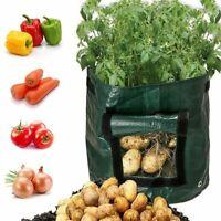 Vegetable Potato Growing Container Bags DIY Planter PE Cloth Planting Garden Pot