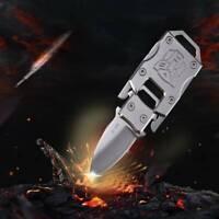 Stainless Steel Outdoor Mini Folding Knife Pocket EDC Key Keychain Survival Tool
