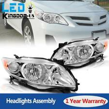 Lamp Assembly For 2009 2010 Toyota Corolla Headlights Headlamp w/Amber Corner
