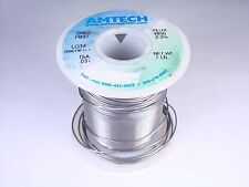 "4300 Amtech Solder Wire SN63 PB37 Tin Lead .031"" 2.2% Flux 7oz Partial"