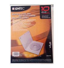 EMTEC EKB1DVST10X COVER CUSTODIE DVD SLIM CASE TRASPARENTE CONF. 10 PZ
