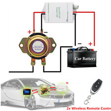 DC 12V Car Battery Switch - Wireless Remote Control -  Disconnect Latching Relay