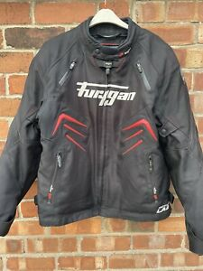 "FURYGAN Textile Motorcycle Bike Jacket Black / Red size XXL 50"" Chest"