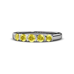 Round Sapphire Half Bezel Women Stackable Wedding Band Ring 14K Gold JP:101368