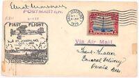 VV437 1929 USA St Louis Omaha Flight Cover {samwells-covers}