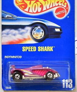HOT WHEELS 1990 BLUE CARD SPEED SHARK #113 PURPLE 24