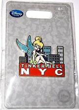 RARE Retired Disney Pin✿Tink Tinker Bell LOVE NY New York City Skyline Marquee