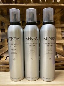 NEW Kenra Volume Mousse Extra 17 Firm Hold Mousse   8 oz. - Pack of 3