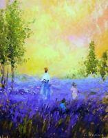 Camille Pissarro Lavender Fields Fine Art CANVAS Print Home Decor Wall Art Small