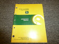 John Deere STX30 & STX38 Lawn Tractor Owner Owner's Operator Manual OMM79649