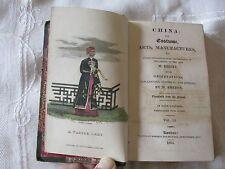 Rare China Arts Manufactures Costume M Breton from M Bertin 1824 Original Cover