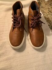 Nautica Breakwater Youth Shoes High Tops Boots Brown Size 5  Non-marking Soles