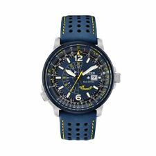 Citizen Eco-Drive Men's Blue Angels Promaster Nighthawk Leather Watch BJ7007-02L
