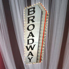 Broadway Sign word Broadway in black bold letters Cardboard Prp[ Decoration