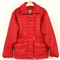 Laurel by Escada Women Coat Red Zip Up Pockets Lined Size 38 (US 8) Waist Adjust