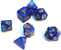 RPG Würfel Set 7-teilig Blau dice4friends Poly Rollenspiel w4-w20 Tabletop DND